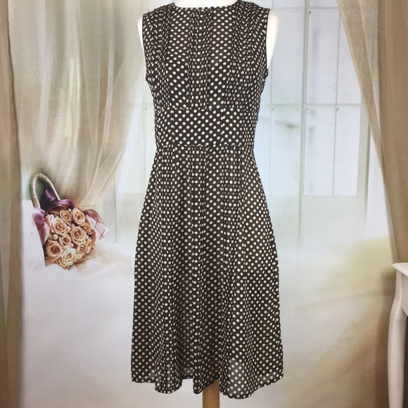 Sandra Darren Dresses & Skirts - Sandra Darren Sheer Polka Dot Dress